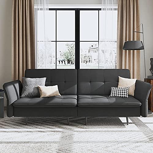 HONBAY Convertible Folding Futon Sofa Bed for Small Space, Sleeper Sofa...