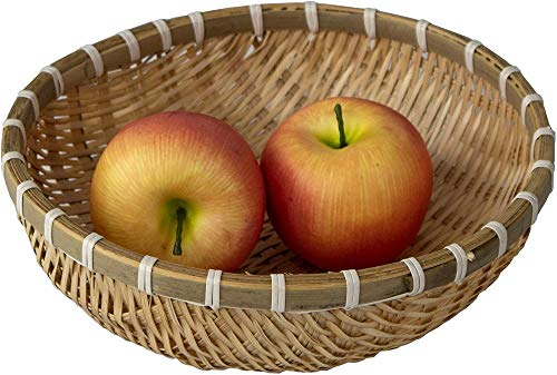 Canasta de frutas de alambrehecha,canasta de almacenamiento redonda para pan, bocadillos, dulces, artículos para el hogar