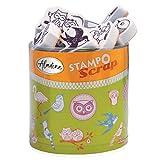 Aladine - Stampo Scrap - Kit de Tampons pour Carterie Créative - Scrap, DIY, loisirs créatifs - Set de tampons à emporter partout + Encreur Noir Inclus (OISEAUX)