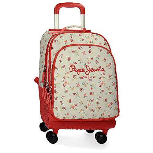Pepe Jeans Joseline Sac à dos/Trolley 4 roues Multicolore 33x44x21 cms Polyester 30.49L