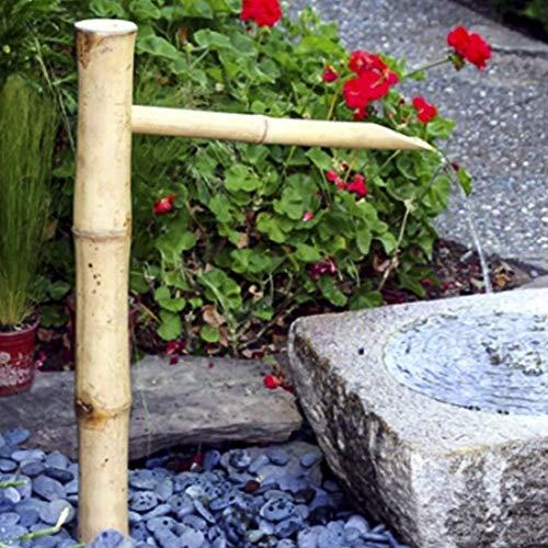 ZHIRCEKE Bambus Feng Shui-Wasser-Brunnen im Freien Japanische Gartengestaltung Ausguss und Pump