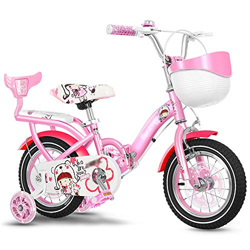 Kids' Bikes Children's Bicycle Girl Pink Baby Carriage 2-4 Year Old Boy Pedal Balance Car 4-8 Year Old Folding Bicycle Outdoor Cycling Exercise Bicycle Give Children The Best Gift