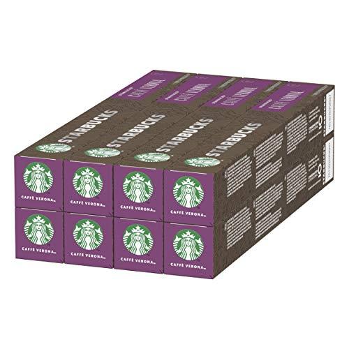 STARBUCKS Caffè Verona By Nespresso Dark Roast Coffee Capsules , 10 capsules (Pack of 8, Total 80 capsules)