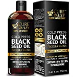 Cure Valley Black Seed Oil 8.8oz: Higher Bioavailabilty Faster Absorbtion, Very High Thymoquinone, Cold Pressed, 100%...