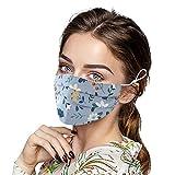 3 pezzi di protezione per bocca e naso colorato copertura paradenti lavabile cotone Face Cover mouth cover riutilizzabile bandana sciarpa (E)