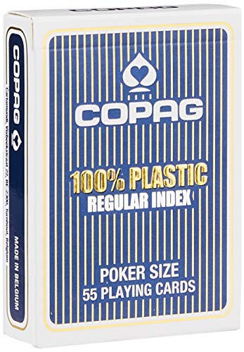 Copag 22540036 - Plastik Poker, Regular Face, blau