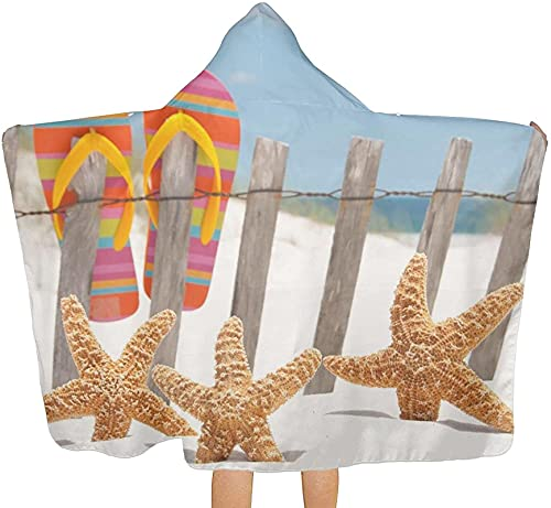 Toallas de secado rápido Flip Flop, toalla de playa impresa con capucha toallas de baño para cuartos de baño Toallas