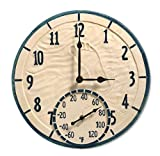 Taylor Precision Products 14' By The Sea Clock with Thermometer, Multicolored