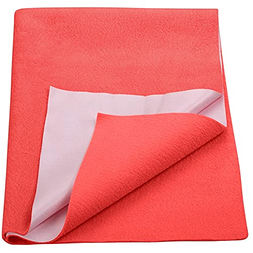 Trance Home Linen Baby Dry Sheets/100% Waterproof/Soft/Mattress/Crib/Bed Protector/Breathable/Underpad -Coral (Large)