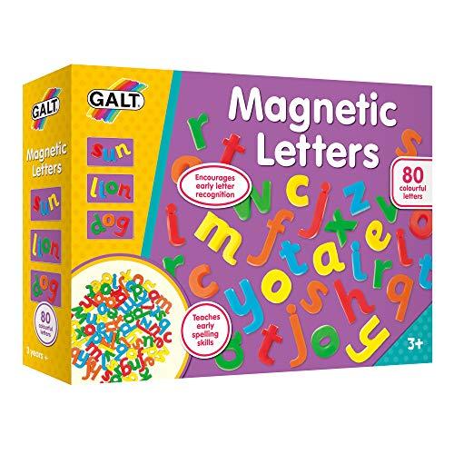 Galt Spielzeug, magnetische Buchstaben, Kleinbuchstaben, für Kinder ab 3 Jahren.