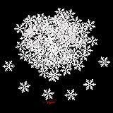 Howaf 300 Stück Schneeflocken Konfetti, Weihnachten Winter deko Schneeflocke Filz Tabelle Konfetti Tischdeko, Weihnachtsschmuck , Hochzeit, Geburtstag, Jahr, Weihnachts Dekorationen - 4