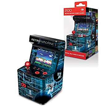 My Arcade Retro Machine Playable Mini Arcade  200 Retro Style Games Built In 5.75 Inch Tall Powered by AA Batteries 2.5 Inch Color Display Speaker Volume Control
