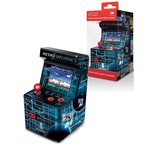 My Arcade Retro Machine Playable Mini Arcade: 200 Retro Style Games Built In, 5.75 Inch Tall, Powered by AA Batteries, 2.5 Inch Color Display, Speaker, Volume Control