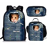 showudesigns Z-C330C, Sac à dos enfant Multicolore Hamster Set