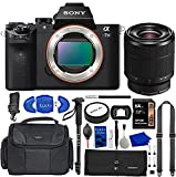 Sony a7 II Full-Frame Mirrorless Camera Bundle with 28-70mm Lens, 64GB Memory Card, Peak Design Strap, Water Resistant Gadget Bag, Accessory Rollup, Monopod, Eyecup + More | Sony Alpha 7 II
