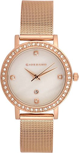 Giordano Analog Silver Dial Women's Watch - 2861-44