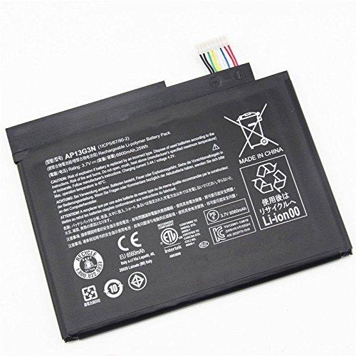 Hubei Laptop Akkus fur AP13G3N Acer Aspire Iconia W3 810 Tablet 8 Series Tablet37V 25Wh 6800mAh