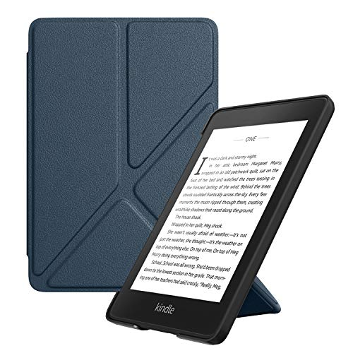 MoKo Funda para Kindle Paperwhite (10th Generación, 2018 Releases), Standing Origami Slim Shell Funda con Auto Sueño/Estela para Kindle Paperwhite E-Reader - Índigo