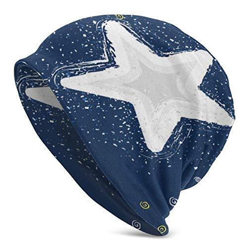 XCNGG Sombreros Gorras Skullies Gorros Knit Beanie Hat Stars Skull Cap Outdoor Sports Windproof Warm Beanie Hat for Women Black