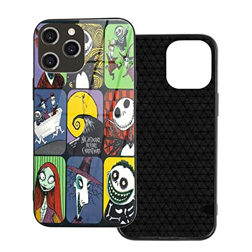 Nightmare Before Christmas Iphone 12 Case Tpu Soft Protective Cover Tempered Glass Protective Compatible With Iphone 12/12 Mini/12 Pro/12 Max Flexible Shock Absorption Bumpers Anti-Scratch Covers