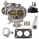 Dokili Carburador de repuesto para Weber 38 x 38 2 barrel Fiat Renault Ford VW Dodge Toyota Pickup Jeep 38/38 DGES 390 CFM.