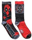 Marvel Deadpool Men's Crew Socks 2 Pair Pack Shoe Size 6-12