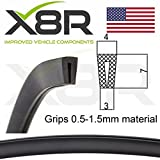 X8R Small Low Profile Black Rubber U Channel Edging Trim Seal Extrusion Protector Part: X8R0121
