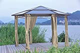 Garden Pleasure Garten Pavillon Salmon, 6-eckig, Anthrazit, Cremebraun