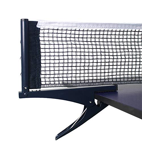 Yiliaw Collapsible Table Tennis Net Professional Steel Pingpong Net Clip Grip Mesh Training Competition Portable Tension Adjustable Post,for Adults & Kids