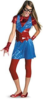 Disguise spider girl tween (large) Red/Blue