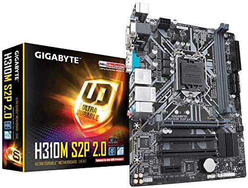 Placa Mãe H310M S2P 2.0 Intel LGA 1151 Micro ATX DDR4 GIGABYTE