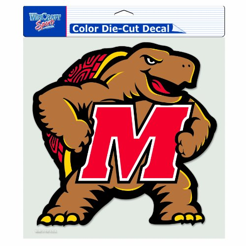 NCAA Maryland Terrapins 8-by-8 Inch Diecut Colored Decal