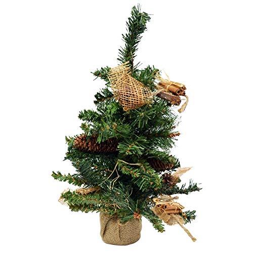 Outils et Nature Sapin de Noël 45 cm décoré pour la Table