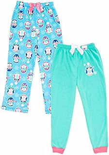 Image of 2 Pack Fleece Cute Penguin Pajama Pants for Girls - See More Designs