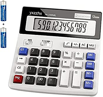Yxzzhx 12 Digit Two Way Power Battery and Solar Calculator