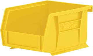 Akro-Mils 30210 AkroBins Plastic Storage Bin Hanging Stacking Containers, (5-Inch x 4-Inch x 3-Inch), Yellow, (24-Pack)