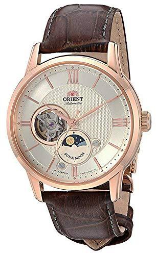 "Orient Dress ""Sun & Moon Open Heart"" Japanese Automatic/Hand Winding Stainless Steel Watch (Model: RA-AS0003S10A)"