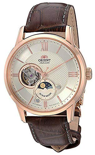 "Orient Dress ""Sun & Moon Open Heart"" Japanese Automatic/Hand Winding Stainless Steel Watch (Model: RA-AS0003S10A)"