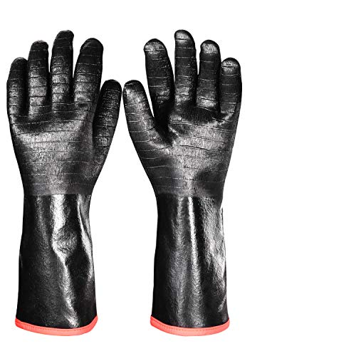 iHarbort Protective BBQ Gloves, 1 Pair, 1292℉ Heat Resistant Grilling Oven Gloves, Fire&Oil...