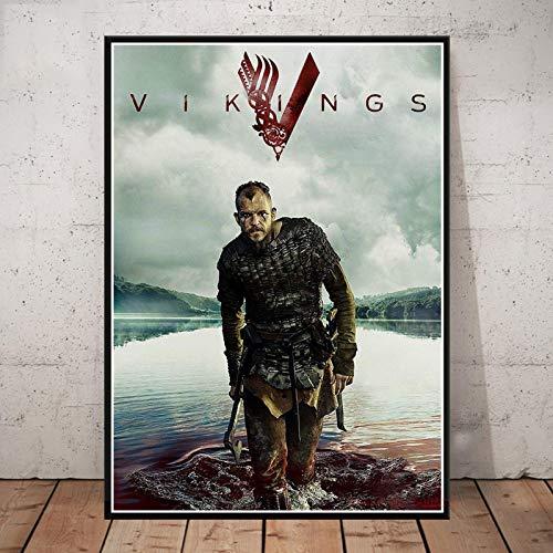 GaoDashan Póster de Vikingos, Serie clásica de TV, Lienzo, Pintura Impresa, Cuadros de Pared para Sala de Estar, decoración del hogar (V678) 40X60CM NO Frame Poster