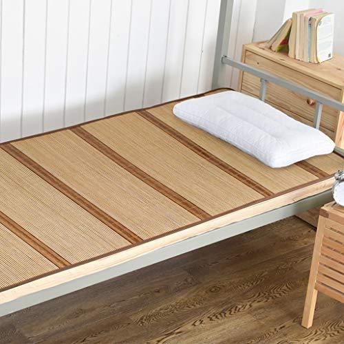 DUJIA Dormitorio Individual para Estudiantes Dormitorio con literas Cama de 0.9 m Cama de Doble Cara Disponible Alfombra de Verano (Color : Marrón Claro, Tamaño : 90 * 195cm)