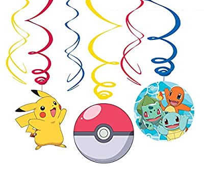 Amscan International Amscan 9904830 - Juego de 6 figuras decorativas de Pokemon de Amscan International