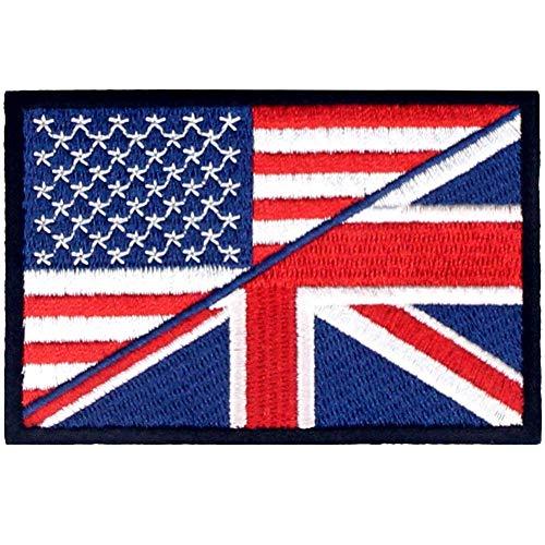 UK Union Jack USA Amerikaanse vlag patch geborduurd apparaat ijzer op naaien op nationaal embleem