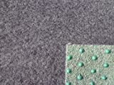 Internethandel Pfordt Basic (3€/m²) Kunstrasen mit Noppen grau 200 cm breite (450 x 200 cm)