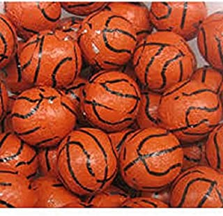 Solid Milk Chocolate Basketballs - 1 Pound