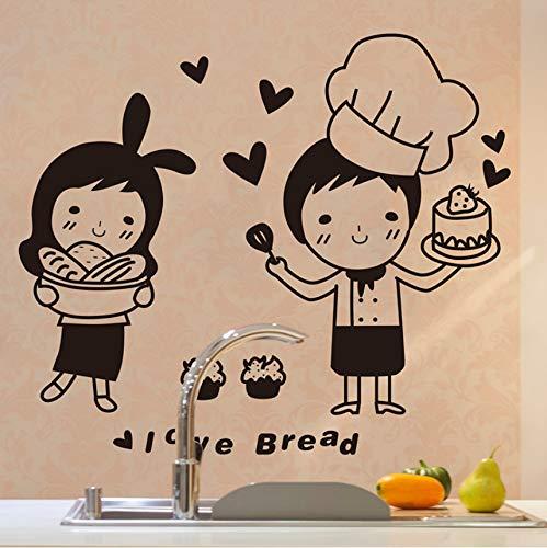 Pmhhc Chefs Muursticker Keukenpatroon Japanse Snoepjes Voedsel Sticker voor Cafe Keuken Decoratie Huishoudelijke muursticker
