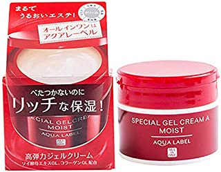 SHISEIDO AQUALABEL Special Gel Cream Moist All In One Cream Removing Fine Lines Moisturizing And Nourishing The Skin, 90g