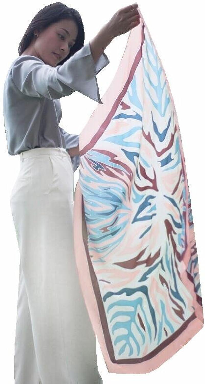 Craft Thai Silk Authentic Women's Batik Scarf 100% with Tiger Earth Tone