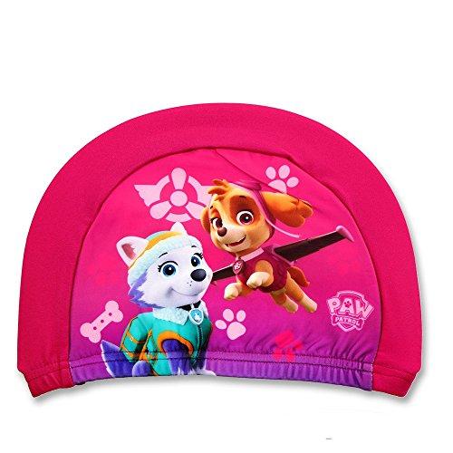GUIZMAX Compatible avec Bonnet de Bain La Pat Patrouille Fille Rose Enfant