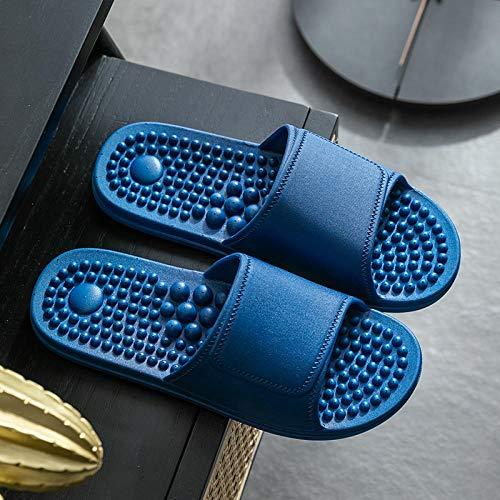 Ririhong Zapatillas de Masaje para Hombre, Interior, Antideslizante, para el hogar, Desodorante para el hogar, baño, Sandalias de baño, Chanclas, verano-40-41_Blue